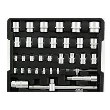 Įrankių rinkinys aliuminiame lagamine, terkšliniai raktai 188vnt. 3