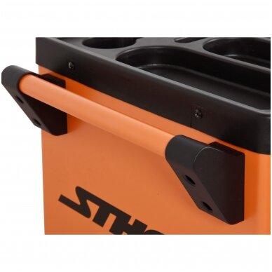 Įrankių spintelė ant ratukų, 6 stalčiai, 1 šoninės durys (tuščia) STHOR 5