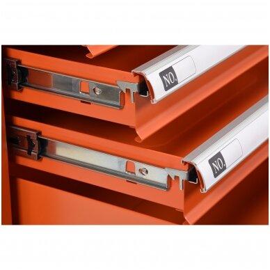 Įrankių spintelė ant ratukų, 6 stalčiai, 1 šoninės durys (tuščia) STHOR 6