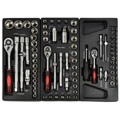 Įrankių spintelė ant ratukų su 155 įrankiais 7stalčiai 2