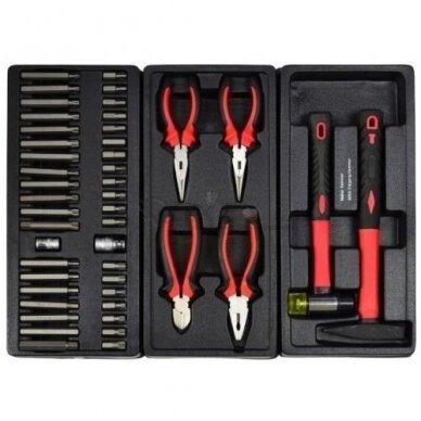 Įrankių spintelė ant ratukų su 155 įrankiais 7stalčiai 5