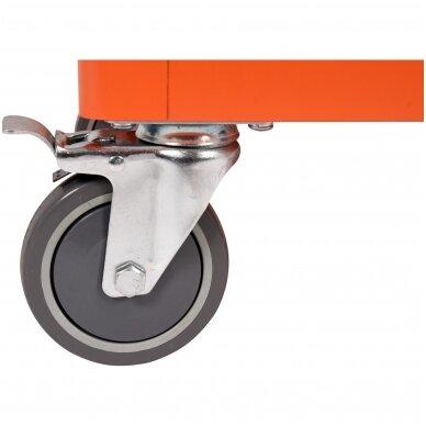 Įrankių spintelė ant ratukų su įrankiais 6 stalčiai 1 šoninės durys 184 vnt. STHOR 9