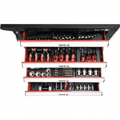 Įrankių spintelė ant ratukų su įrankiais 6 stalčiai 177vnt. PRO 4