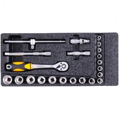 Įrankių spintelė su 177 įrankiais, 6 stalčiais 13