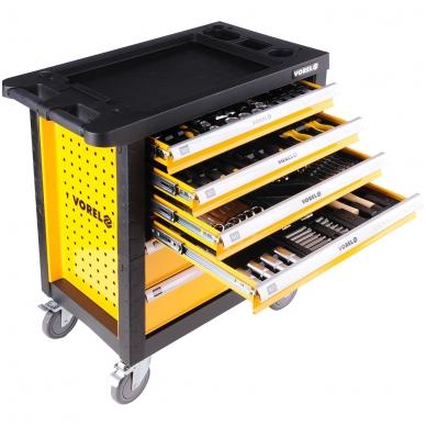 Įrankių spintelė su 177 įrankiais, 6 stalčiais