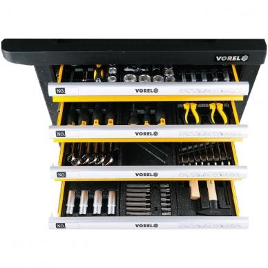 Įrankių spintelė su 177 įrankiais, 6 stalčiais 4