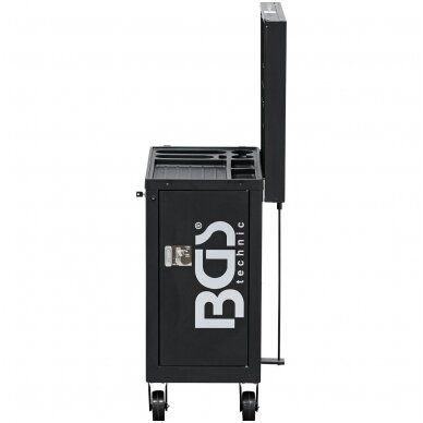 Įrankių spintelė LED su bluetooth garsiakalbiu ir USB  8 stalčiai 4