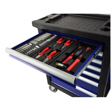 Įrankių spintelė su įrankiais 185 vnt. 2
