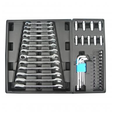 Įrankių spintelė su įrankiais 245vnt. 6 stalčiai 3