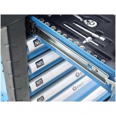 Įrankių spintelė su įrankiais 245vnt. 6 stalčiai 6