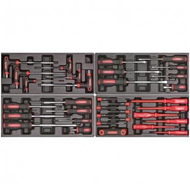 Įrankių spintelė ant ratuku su įrankiais 583vnt. 4