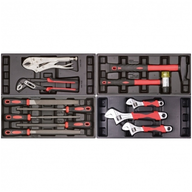 Įrankių spintelė ant ratuku su įrankiais 583vnt. 6