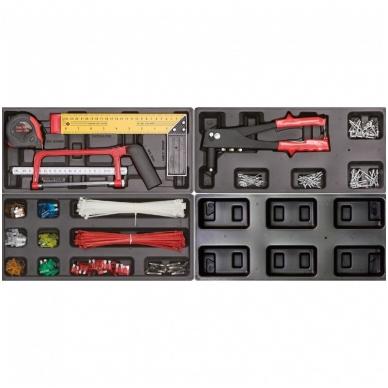 Įrankių spintelė ant ratuku su įrankiais 583vnt. 7