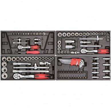 Įrankių spintelė ant ratuku su įrankiais 583vnt. 2