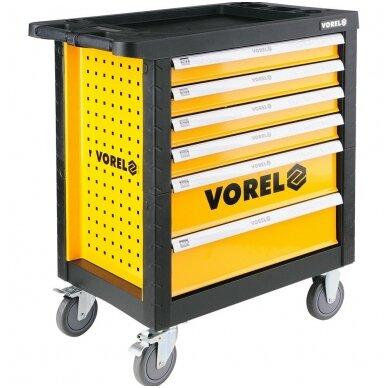 Įrankių spintelė ant ratukų, 6 stalčiai Vorel 3