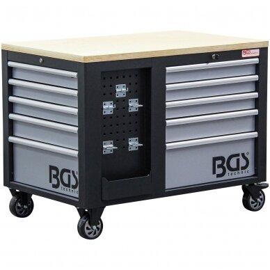 Įrankių vežimėlis 2x5 stalčiai + 1 spintelė (tuščia) BGS