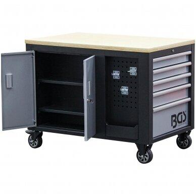 Įrankių vežimėlis 2x5 stalčiai + 1 spintelė (tuščia) BGS 6