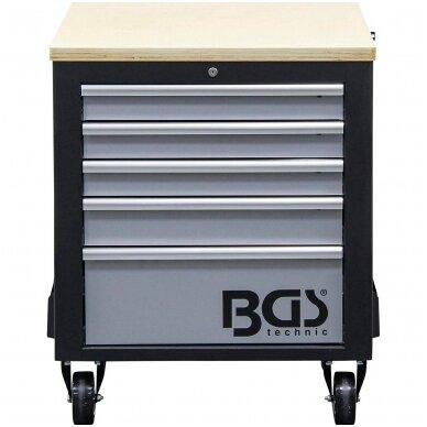 Įrankių vežimėlis 2x5 stalčiai + 1 spintelė (tuščia) BGS 7