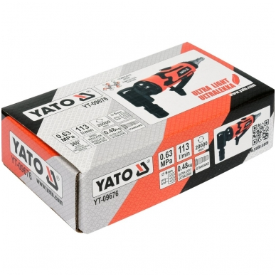 Kampinis pneumatinis šlifuoklis 6mm YATO 4