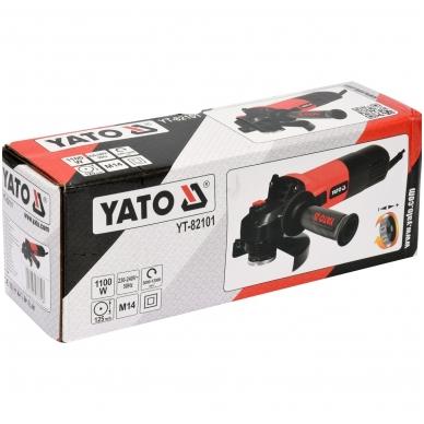 Kampinis šlifuoklis su greičio reguliavimu 1100W 125 mm YATO 5