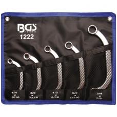 """Kilpinių raktų komplektas C pusmėnulio formos 5 vnt coliniai dydžiai, """"Bgs-technic"""""""