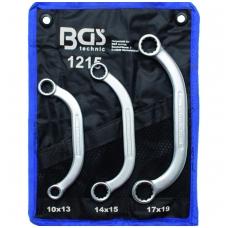 """Kilpinių raktų komplektas C pusmėnulio formos 10x13-17x19 mm, """"Bgs-technic"""""""