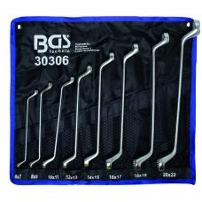 "Kilpinių raktų rinkinys 8 vnt, 6x7-20x22 mm, CR-V ""Bgs-technic"""