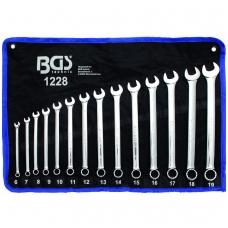 """Kombinuotų pailgintų raktų komplektas 14 dalių, """"Bgs-technic"""", 6-19MM"""