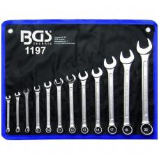 """Kombinuotų raktų rinkinys 12 vnt, 6-22MM, CR-V, """"Bgs-technic"""""""