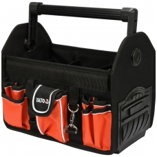 """Krepšys įrankiams karkasinis su aliumine rankena 13""""  17 kišenių YATO"""