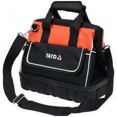 Krepšys įrankiams su guminiu korpus 15 kišenių YATO