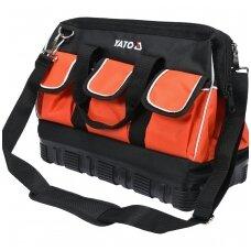 Krepšys įrankiams su guminiu korpusu 15 kišenių YATO