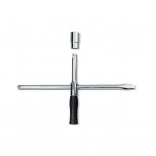 Kryžminis raktas sudedamas su Cr-V 17x19x21x23mm galvutėmis