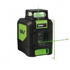 Lazerinis nivelyras Multilaser 1D, žalias spindulys 360 laipsnių, DEDRA