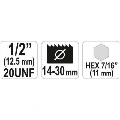 "Laikiklis gręžimo karūnai 14-30 mm, 1/2"", HEX antgalis 2"