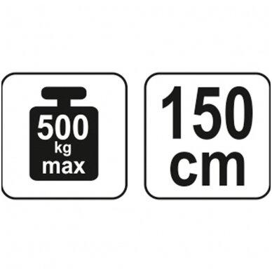 Laikiklis varikliui 750-1450mm/500kg YATO 3