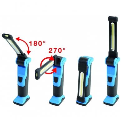 Lanksti akumuliatorinė darbo lempa 5W COB LED BGS Technic 2