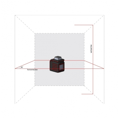 Lazerinis nivelyras Cube 360, ADA 3