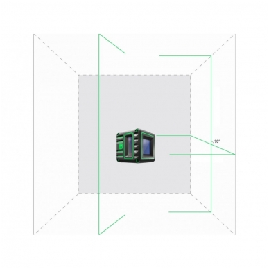 Lazerinis nivelyras Cube 3D Green, ADA Professional Edition 4