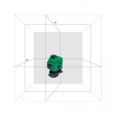 Lazerinis nivelyras TOPLINER 3x360° GREEN 11