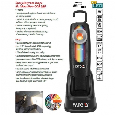 Lempa dažų parinkimui YATO 10