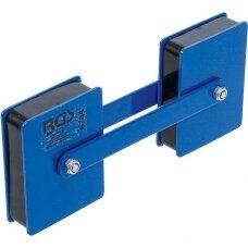 Magnetinis suvirinimo laikiklis dvigubas ir reguliuojamas kampas 22,7kg BGS-Technic