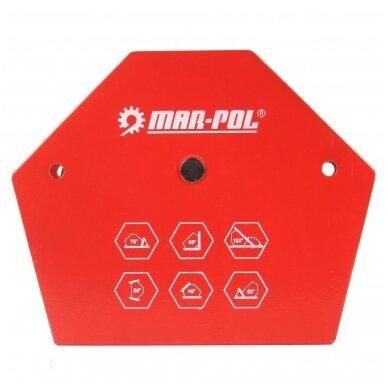 Magnetas suvirinimo kampui 13,5x11x2,4cm, 35kg, 6-kampis