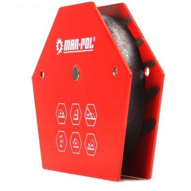 Magnetas suvirinimo kampui 13,5x11x2,4cm, 35kg, 6-kampis 2