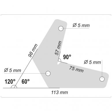 Magnetinis laikiklis suvirinimo darbams L-tipo 10 kg 2vnt. YT-08721 4