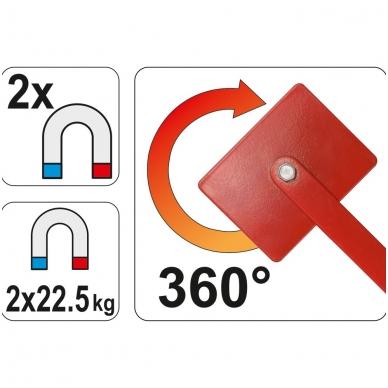 Magnetinis suvirinimo laikiklis reguliuojamas 2