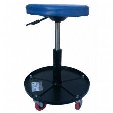 Mechaninė-pneumatinė kėdutė su 5 ratukais