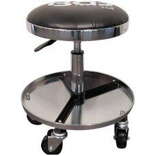 Mechaninė, pneumatinė kėdutė su 5 ratukais, Ø360mm BGS-Technic