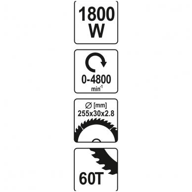 Medžio pjovimo staklės 1800W 6