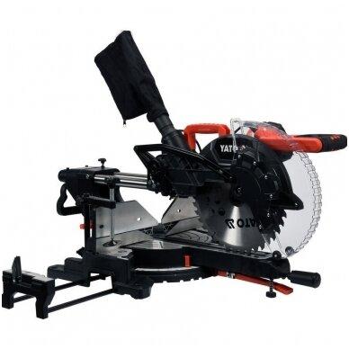 Medžio pjovimo staklės su lazeriu /padavimo funkcija YATO 305mm 1800W 2